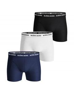 Bjorn Borg Boxershorts 3Pack SOLID Blue Depths