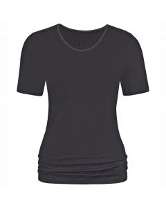 MEY Dames Emotion T-Shirt Zwart 56201