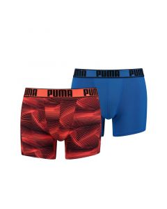 Puma Active Boxer Print Oranje 2Pack Heren Short