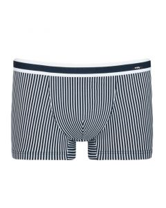 MEY Heren Shorty Boxer Stripe Yacht Blue 33421