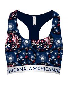 ChicaMala Flower Power Racerback Top Dames Ondergoed