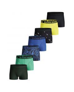 Bjorn Borg 7Pack Boys BB SAMMY Shorts LEAFY Federal Blue
