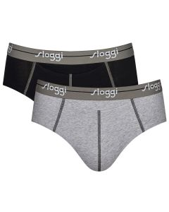 Sloggi Men Start HO Midi Slip Grijs Zwart 2Pack