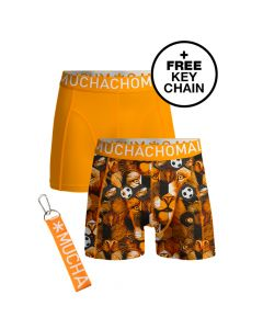 MuchachoMalo EK Nederland Duopack Heren Boxershorts incl keychain