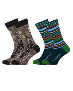 Muchachomalo sokken 2pack Africa