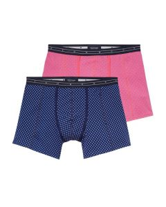 Scotch & Soda heren 2pack Pink & Squares