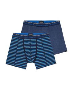 Scotch and Soda heren 2pack Solid & Stripe Blue