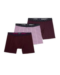 Scotch and Soda heren 3pack Bordeaux