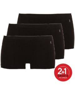 Ten Cate Vrouwen Short Zwart 2+1 Gratis 3pack