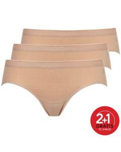 Ten Cate Vrouwen Bikini 3Pack Huid 2+1 Gratis