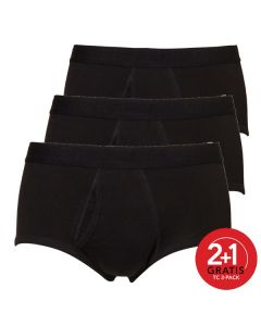 Ten Cate Mannen Basic Classic Brief Zwart 2+1 Gratis 3pack