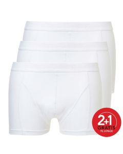 Ten Cate Mannen Basic Shorty Wit 2+1 Gratis 3pack