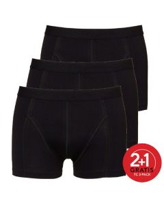 Ten Cate Mannen Basic Shorty Zwart 2+1 Gratis 3pack