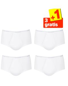 Sloggi Men Basic Maxi White 4Pack, 3+1 gratis