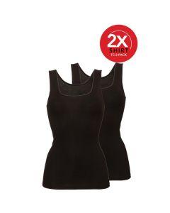 Ten Cate Vrouwen Shirt 2Pack Zwart