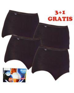 Sloggi Women Basic Maxi Slip 4 pack Black 3+1 gratis