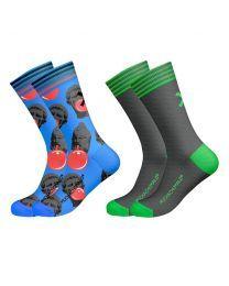 Muchachomalo sokken 2pack Gum