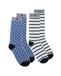 Scotch & Soda heren sokken 2 paar Dots & Stripes 2