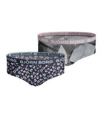 Björn Borg meisjes hipster 2pack Animal & Romantic