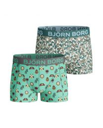 Björn Borg jongens 2pack Badges & Flamingo Green