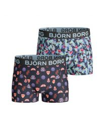 Björn Borg jongens 2pack Badges & Flamingo Peacoat