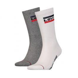 Levi's sokken 2pack Olympic logo Grijs/wit