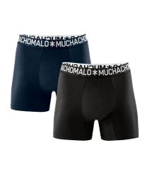 Muchachomalo heren 2pack Light Cotton zwart/navy