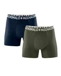 Muchachomalo heren 2pack Light Cotton groen/navy