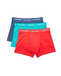 Calvin Klein heren boxershorts 3pack Rood Turqoise Blauw