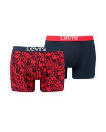Levi's heren 2pack Brief boxershorts Navy Red