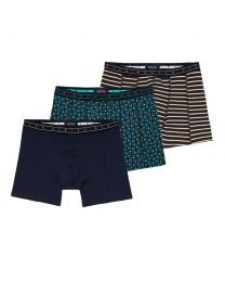 Scotch and Soda heren 3pack Prints & Solid