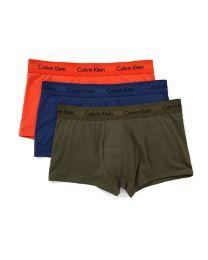 Calvin Klein heren 3pack Lowrise Trunk Forest / Dark Night / Orange