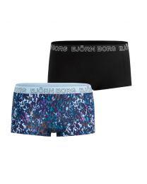 Björn Borg dames 2pack minishorts Tencel NY Leopard Blue
