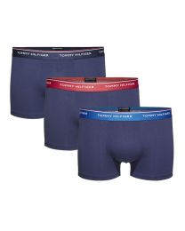 Tommy Hilfiger heren 3pack Trunks Claret/ Blue/ Peacoat